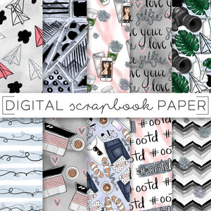 Digital Paper, Blogger Babe Digital Paper Set - TWG Designs