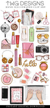 Load image into Gallery viewer, Themed Elements, Desktop Flatlay Clip Art Collection - TWG Designs