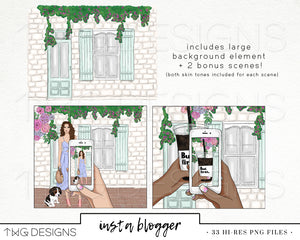 Collections, Insta Blogger Clip Art Collection - TWG Designs