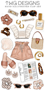 Summer Style Clip Art Collection