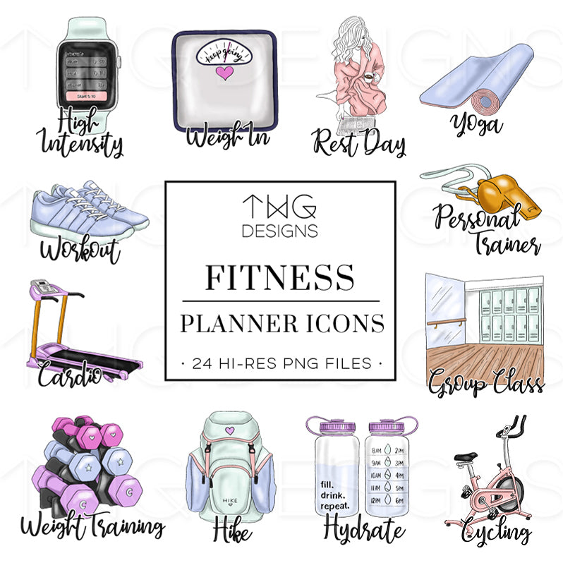 Fitness - To Do Planner Icons