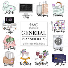 Load image into Gallery viewer, Planner Icons, General - To Do Planner Icons - TWG Designs