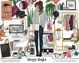 Collections, Boss Babe Clip Art Collection - TWG Designs
