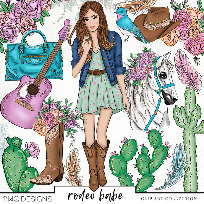 Collections, Rodeo Babe Clip Art Collection - TWG Designs