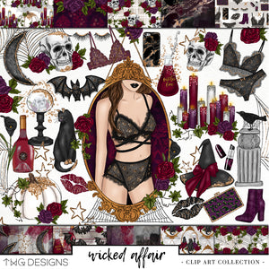 Collections, Wicked Affair Clip Art Collection - TWG Designs