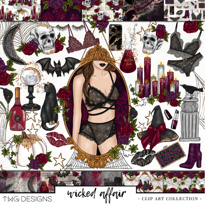 Wicked Affair Clip Art Collection