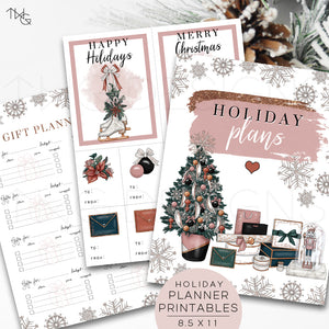Printables, Holiday Planner Printables - TWG Designs