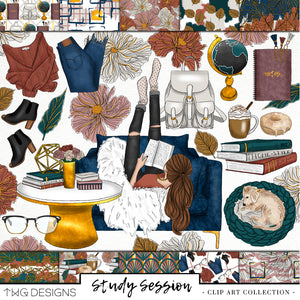 Collections, Study Session Clip Art Collection - TWG Designs