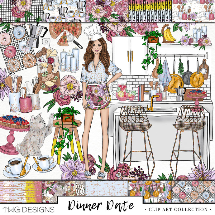 Dinner Date Clip Art Collection