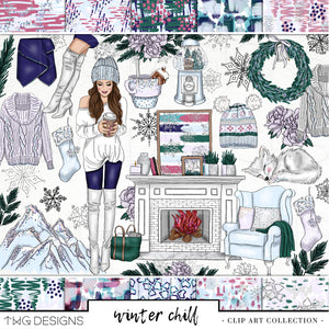 Collections, Winter Chill Clip Art Collection - TWG Designs