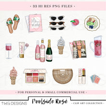 Load image into Gallery viewer, Collections, Poolside Rosé Clip Art Collection - TWG Designs