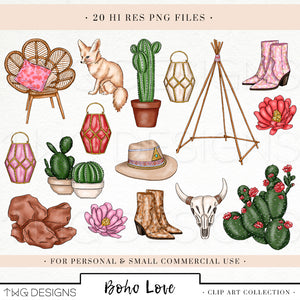 Collections, Boho Love Clip Art Collection - TWG Designs