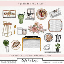 Load image into Gallery viewer, Collections, Cafe Au Lait Clip Art Collection - TWG Designs