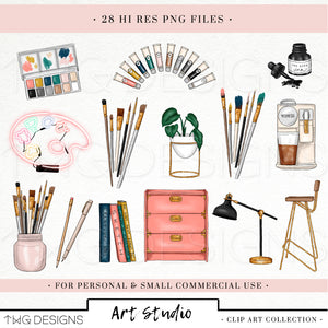 Collections, Art Studio Clip Art Collection - TWG Designs