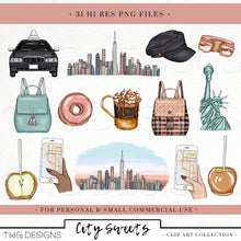 Load image into Gallery viewer, Collections, City Sweets Clip Art Collection - TWG Designs