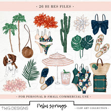 Load image into Gallery viewer, Collections, Palm Springs Clip Art Collection - TWG Designs