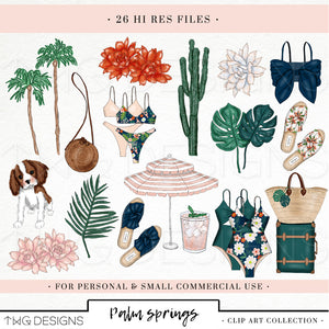 Collections, Palm Springs Clip Art Collection - TWG Designs