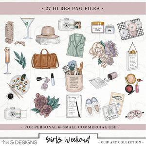 Collections, Girls Weekend Clip Art Collection - TWG Designs