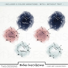 Load image into Gallery viewer, Design Elements, Zodiac Constellations Icon Bundle - TWG Designs