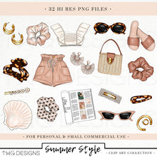 Load image into Gallery viewer, Collections, Summer Style Clip Art Collection - TWG Designs