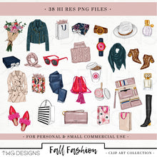 Load image into Gallery viewer, Collections, Fall Fashion Clip Art Collection - TWG Designs