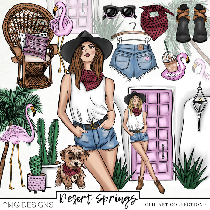 Collections, Desert Springs Clip Art Collection - TWG Designs