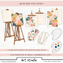 Load image into Gallery viewer, Collections, Art Studio Clip Art Collection - TWG Designs