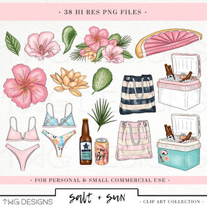 Collections, Salt & Sun Clip Art Collection - TWG Designs