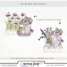 Load image into Gallery viewer, Collections, Spring Fling Clip Art Collection - TWG Designs