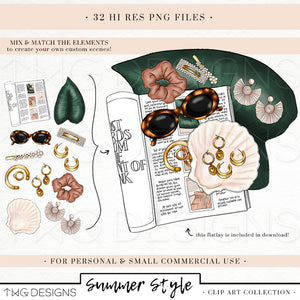 Collections, Summer Style Clip Art Collection - TWG Designs