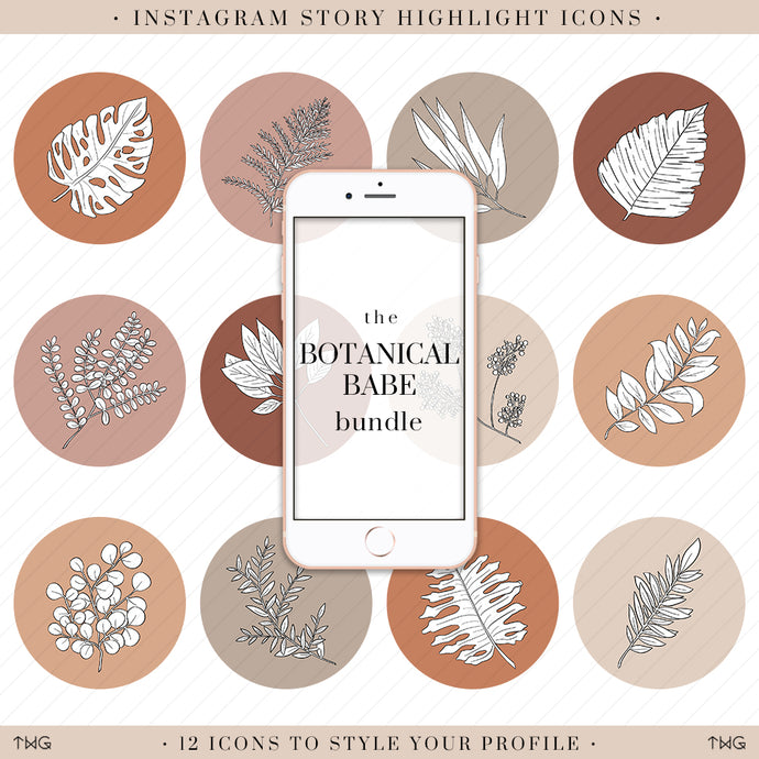 Botanical Instagram Story Highlight Icons