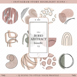 Boho Abstract Vol. 2 Instagram Story Highlight Icons