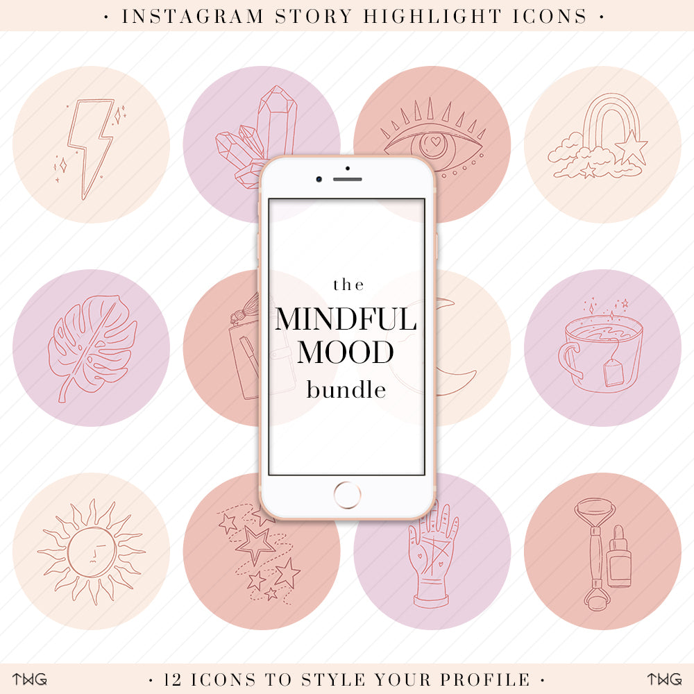 Mindful Mood Instagram Story Highlight Icons