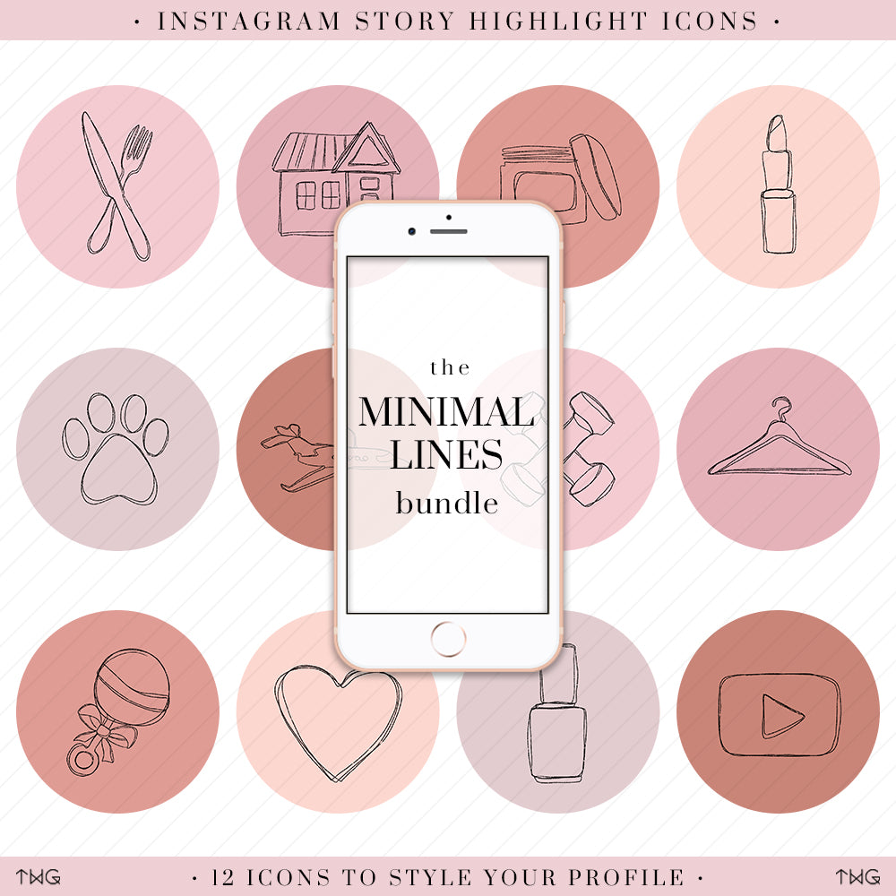 Minimal Lines Instagram Story Highlight Icons