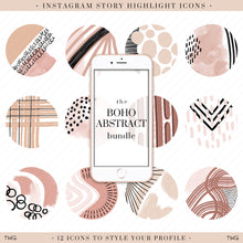 Load image into Gallery viewer, Boho Abstract Instagram Story Highlight Icons
