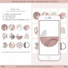 Load image into Gallery viewer, Boho Abstract Vol. 2 Instagram Story Highlight Icons