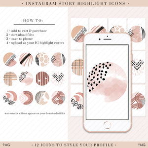 Boho Abstract Instagram Story Highlight Icons