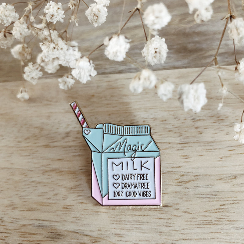 Enamel Pin, Magic Milk Enamel Pin - TWG Designs