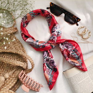 Secret Garden - Satin Square Scarf