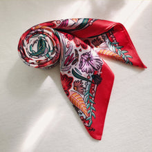Load image into Gallery viewer, Secret Garden - Satin Square Scarf