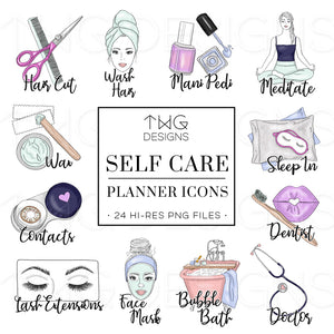 Planner Icons, Self Care - To Do Planner Icons - TWG Designs