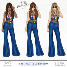 Load image into Gallery viewer, Fashion Illustrations, Natalia - Fashion Illustration - TWG Designs