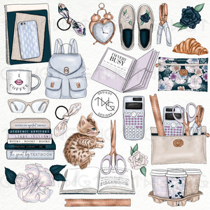 Collections, Academia Clip Art Collection - TWG Designs