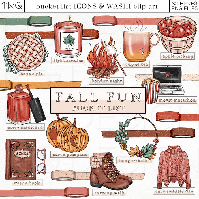Fall Fun - Bucket List Icons