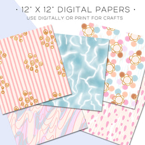 Digital Paper, Tropicola Digital Paper Set - TWG Designs
