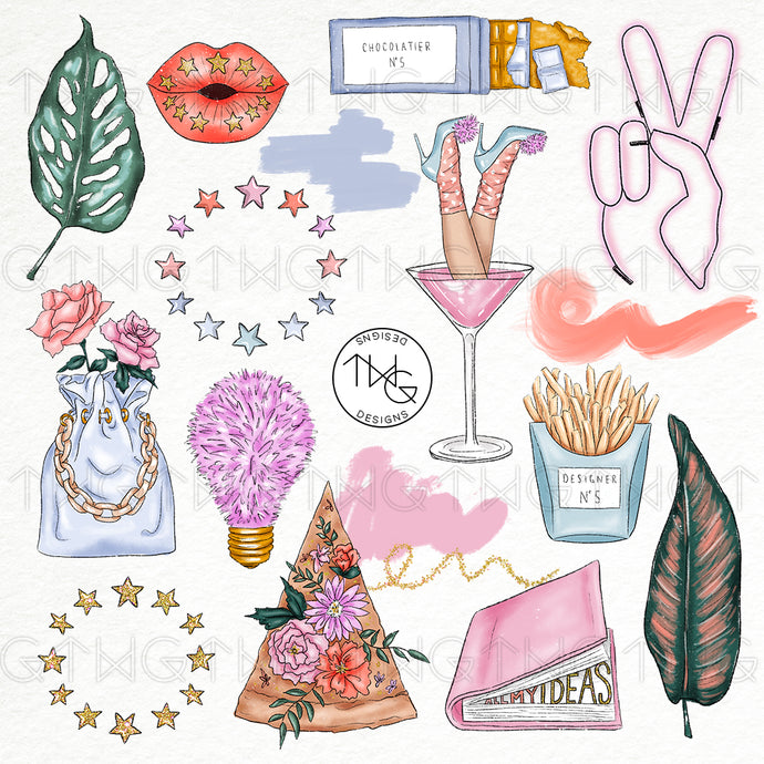 Collections, Vibes Clip Art Collection - TWG Designs