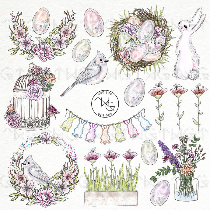 Collections, Spring Fling Clip Art Collection - TWG Designs