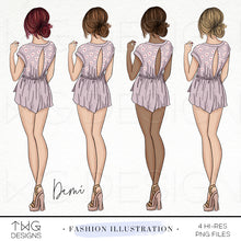 Load image into Gallery viewer, Fashion Illustrations, Demi - Fashion Illustration - TWG Designs