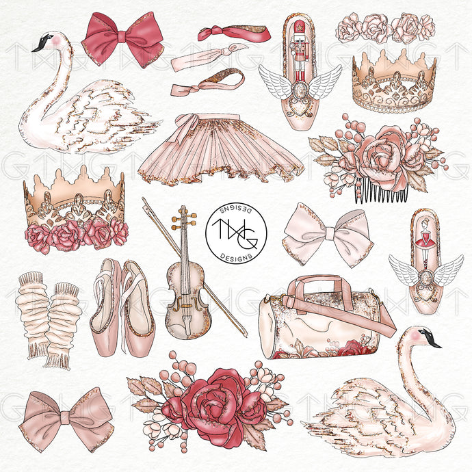 Collections, Prima Ballerina Clip Art Collection - TWG Designs