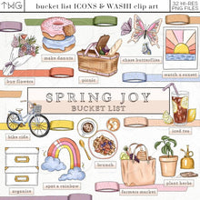 Load image into Gallery viewer, Planner Icons, Spring Joy - Bucket List Icons - TWG Designs